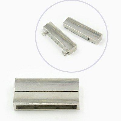 Magnetické zapínání ploché 37x19x7mm, platina