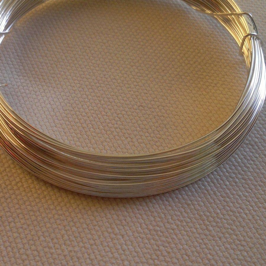 Měděný drát 0,8mm, cca 8,5 m, stříbrná