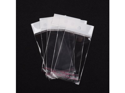 Celofánové sáčky 9x6 mm, samolepící