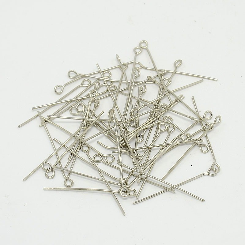 Ketlovací jehly 3 cm, platinová