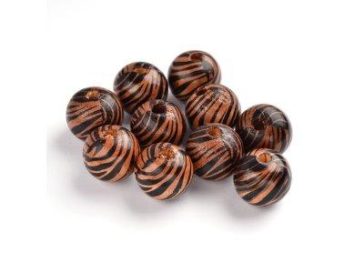 Kulička dřevěná pr. 20 mm, motiv zebra