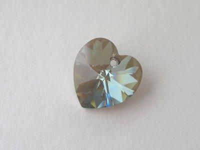 Přívěsek XILION srdce 18x17,5 mm, Swarovski, crystal bronze shade