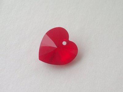 Přívěsek XILION srdce 18x17,5 mm, Swarovski, siam