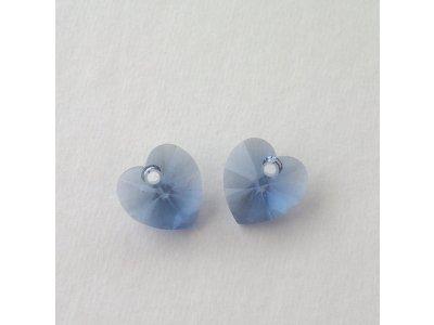 Přívěsek XILION srdce 10,3x10 mm, Swarovski, denim blue