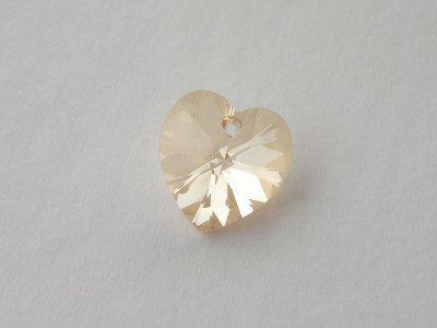 Přívěsek XILION srdce 18x17,5 mm, Swarovski, crystal golden shadow