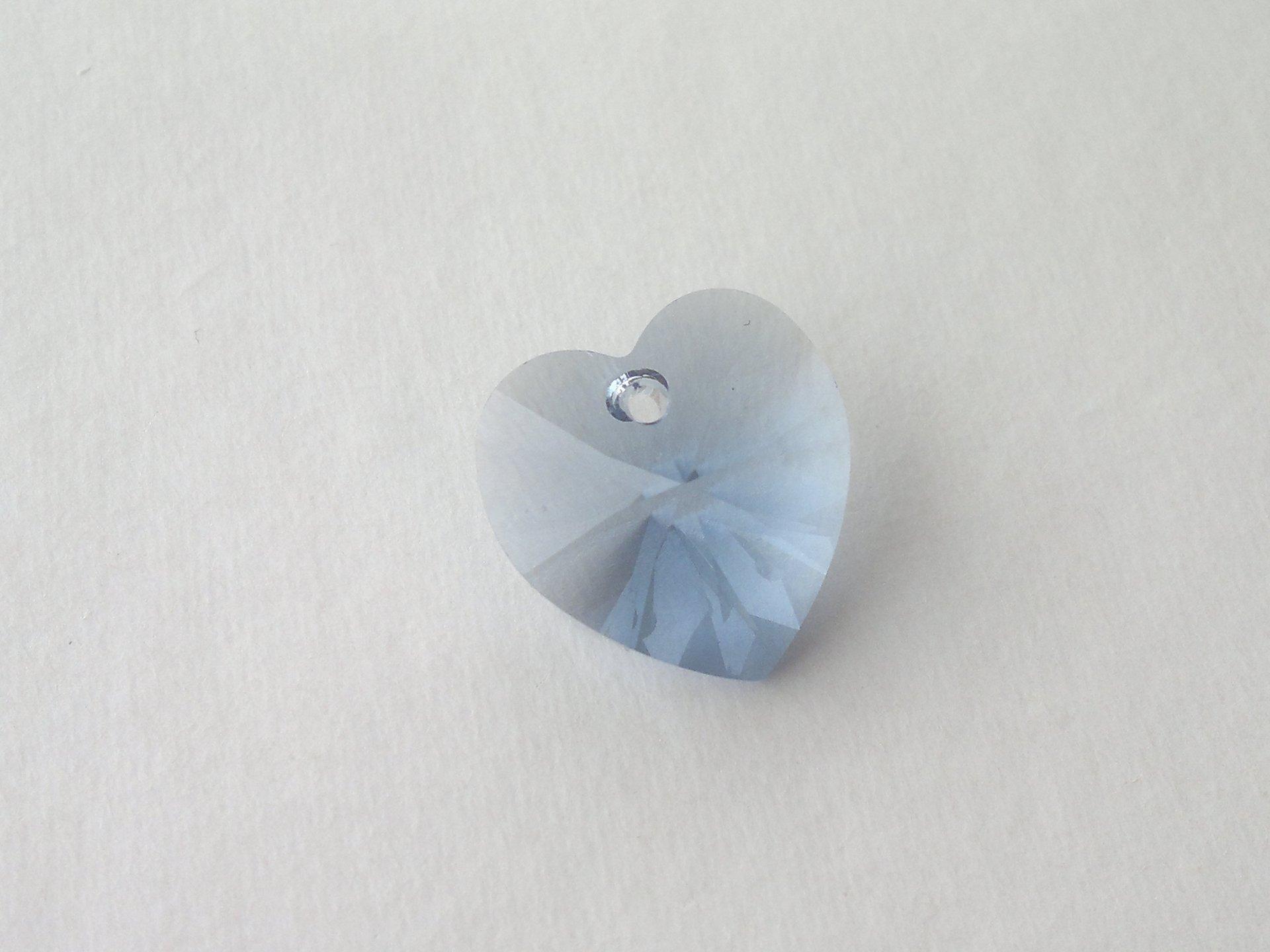 Přívěsek XILION srdce 18x17,5 mm, Swarovski, denim blue