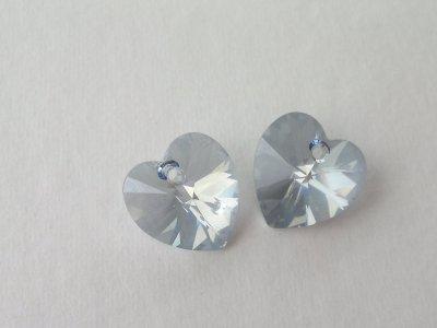Přívěsek XILION srdce 14,4x14 mm, Swarovski, crystal blue shade