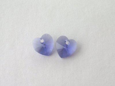 Přívěsek XILION srdce 10,3x10 mm, Swarovski, purple velvet