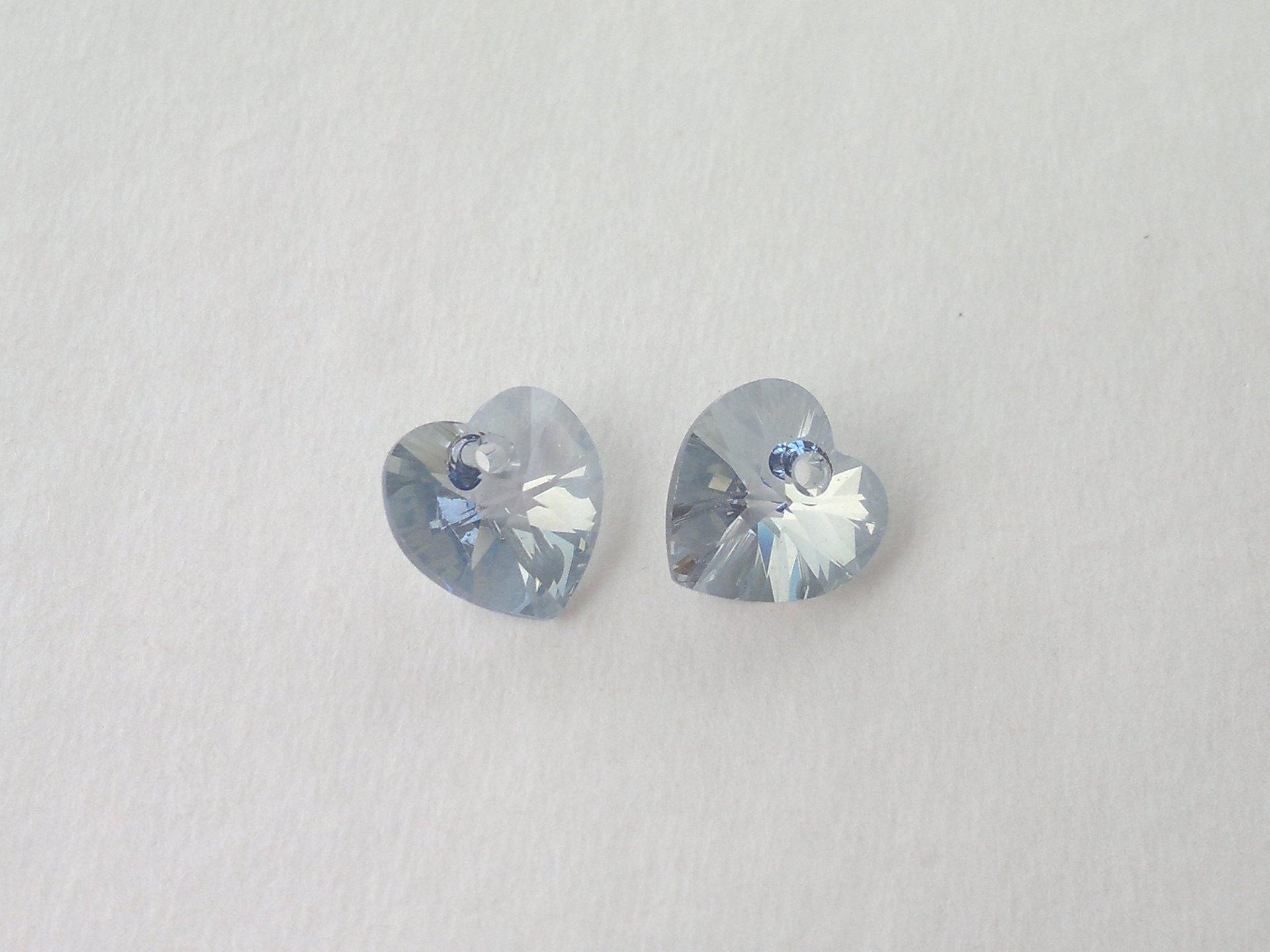 Přívěsek XILION srdce 10,3x10 mm, Swarovski, crystal blue shade