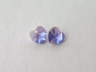 Přívěsek XILION srdce 10,3x10 mm, Swarovski, purple velvet AB