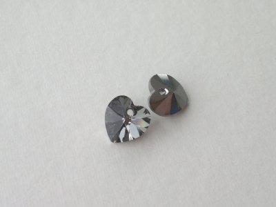Přívěsek XILION srdce 10,3x10 mm, Swarovski, crystal silvernight