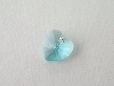 Přívěsek XILION srdce 14,4x14 mm, Swarovski, light turquise