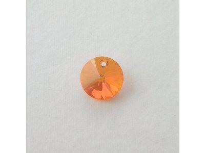 Přívěsek XILION 12 mm, Swarovski, crystal astral pink