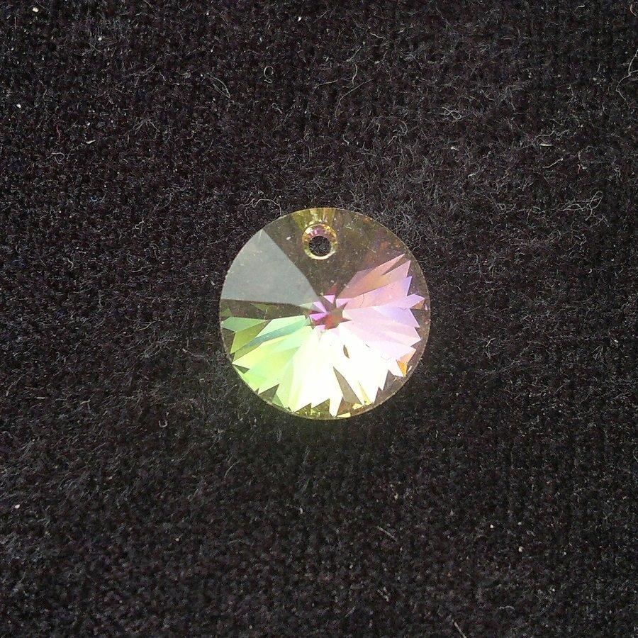 Přívěsek XILION 12 mm, Swarovski, crystal lumin green