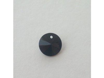 Přívěsek XILION 12 mm, Swarovski, jet