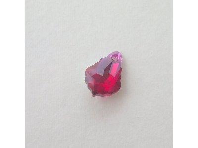Přívěsek barokní 16x11 mm, Swarovski, ruby AB