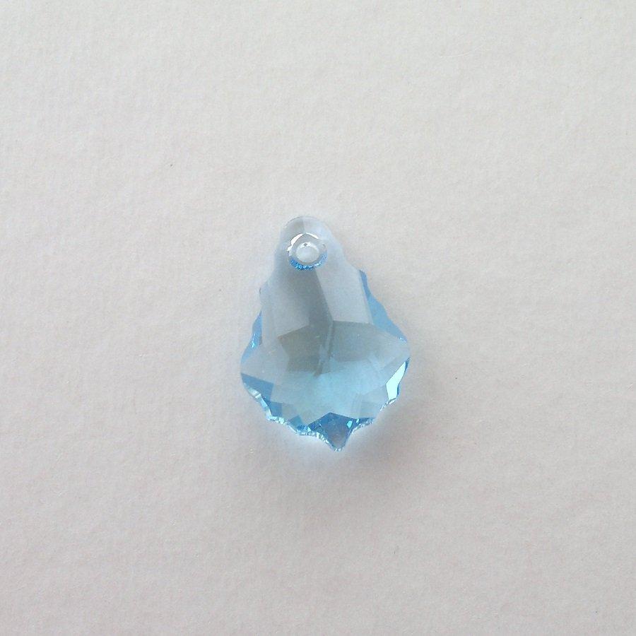 Přívěsek barokní 16x11 mm, Swarovski, aquamarine