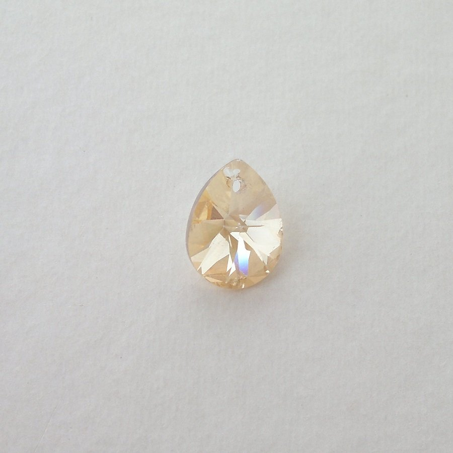 Přívěsek XILION, hruška mini 10 mm, Swarovski, crystal golden shadow