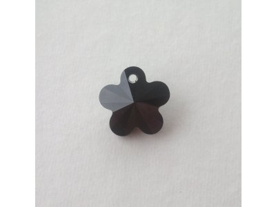 Přívěsek kytička Swarovski 14 mm, jet