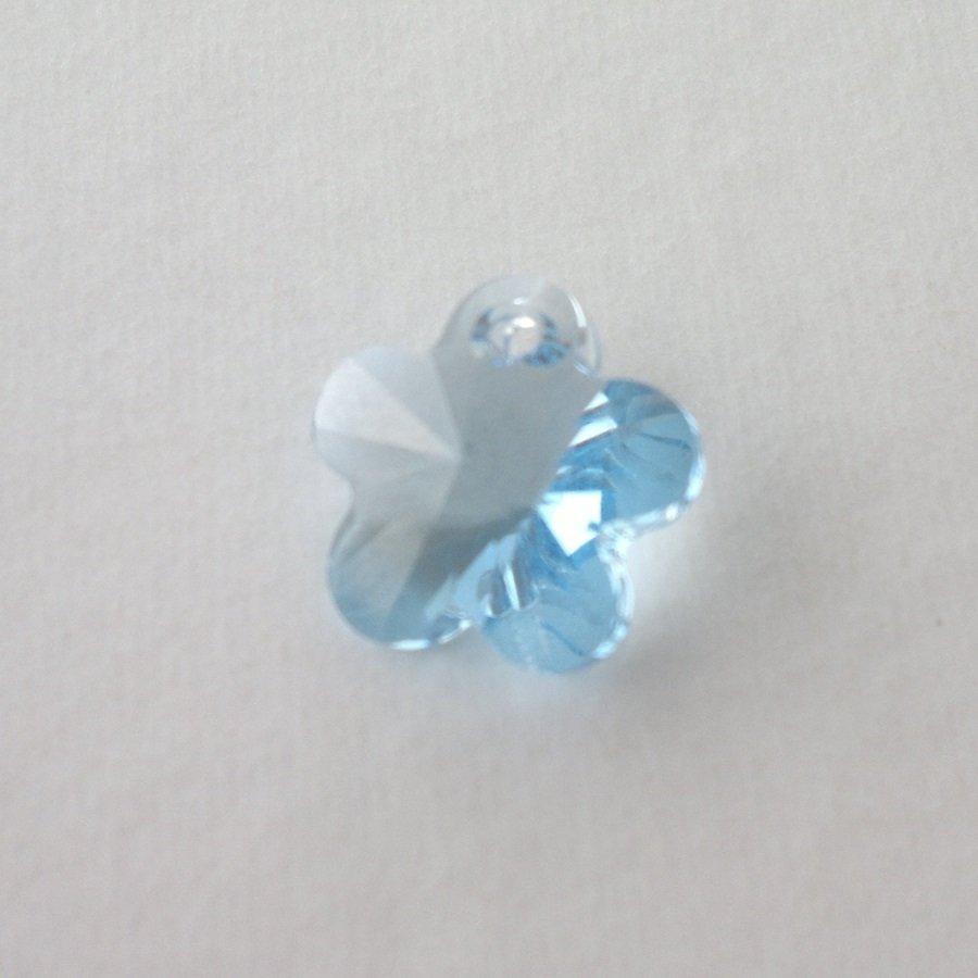 Přívěsek kytička Swarovski 14 mm, aquamarine