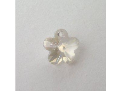 Přívěsek kytička 14 mm, Swarovski light grey opal