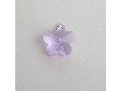 Přívěsek kytička Swarovski 14 mm, violet