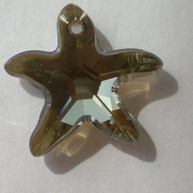 Přívěsek mořská hvězda Swarovski 20 mm, crystal bronze shade