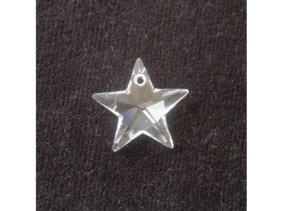 Přívěsek hvězda Swarovski 18 mm, crystal