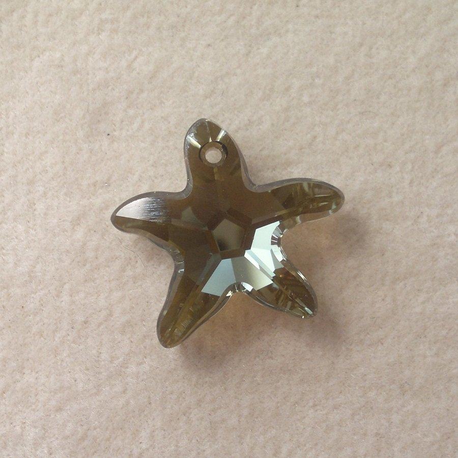Přívěsek mořská hvězda Swarovski 16 mm,crystal bronze shade