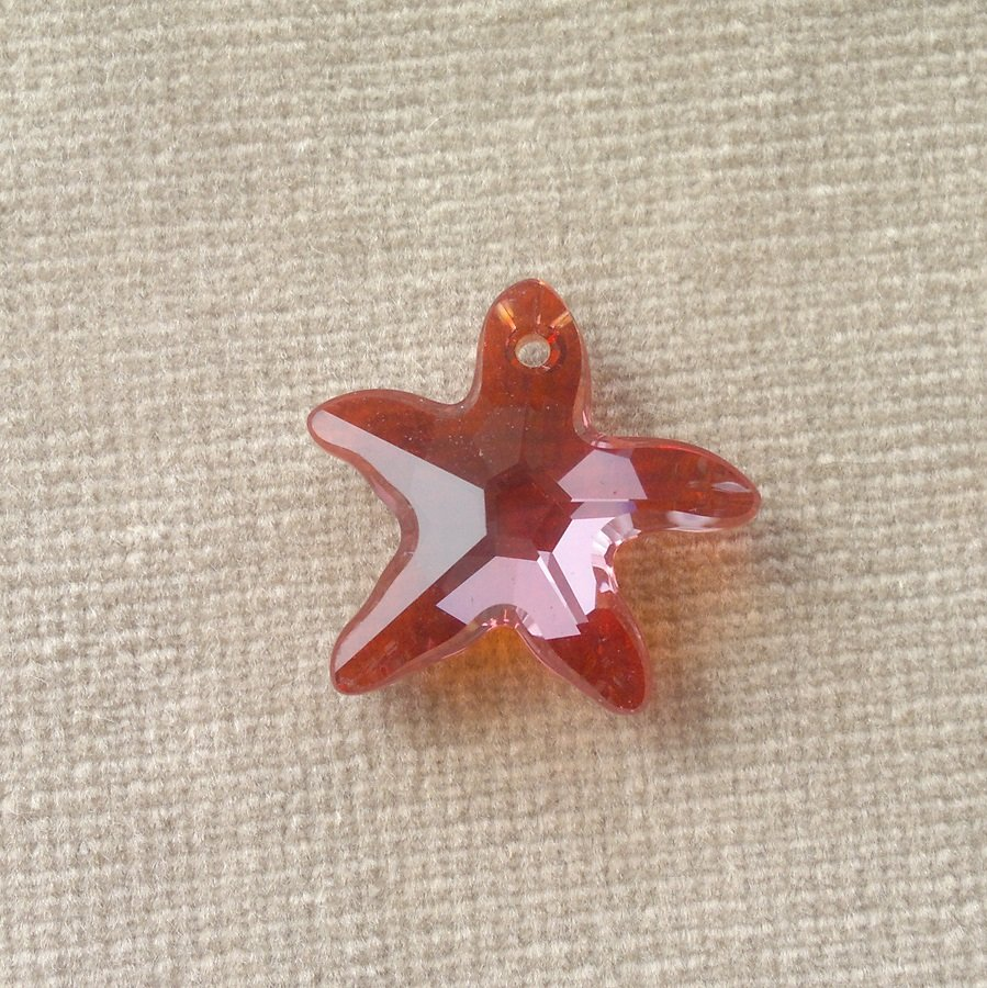 Přívěsek mořská hvězda Swarovski 16 mm,crystal antique pink