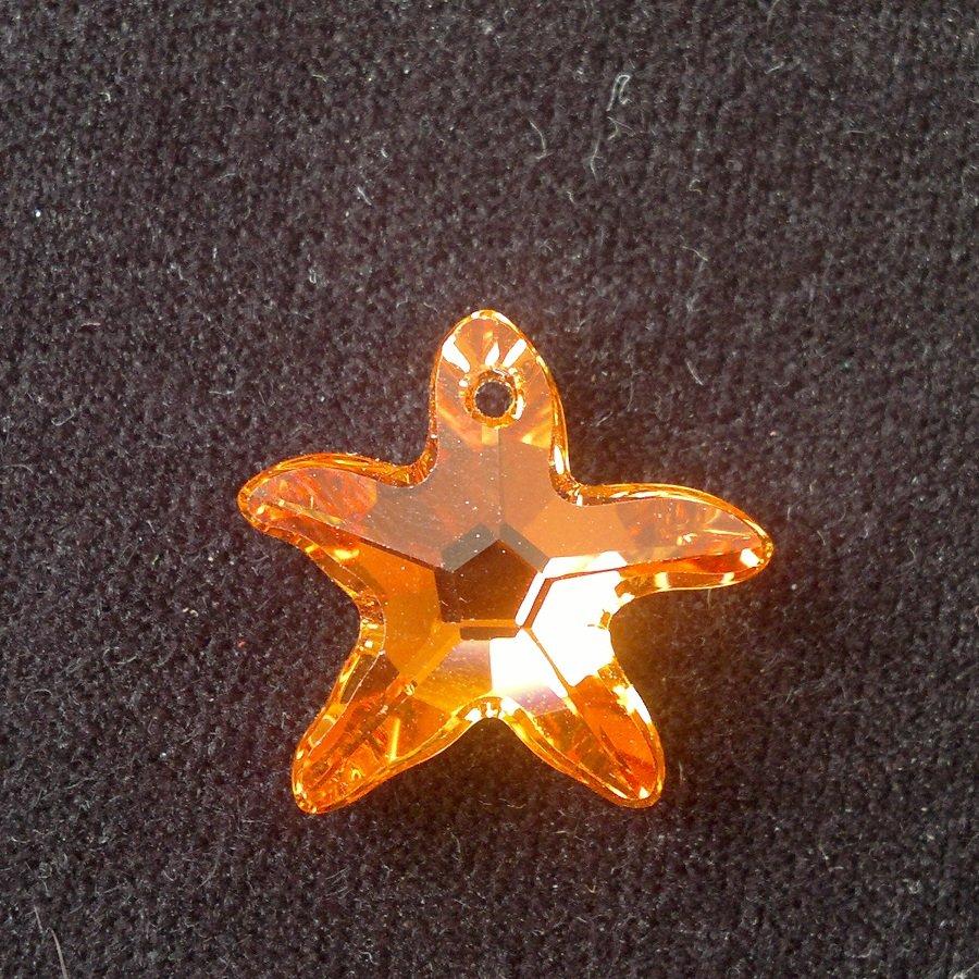Přívěsek mořská hvězda Swarovski 20 mm, crystal astral pink