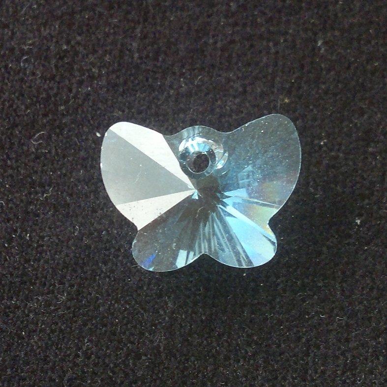 Přívěsek motýl Swarovski 18 mm, aquamarine