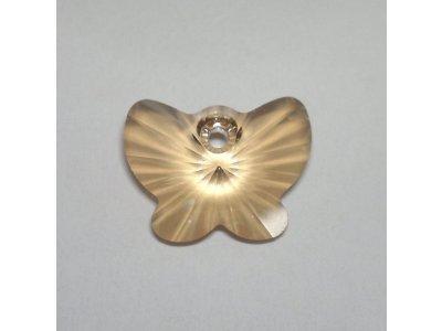 Přívěsek motýl Swarovski 18 mm, crystal golden shadow