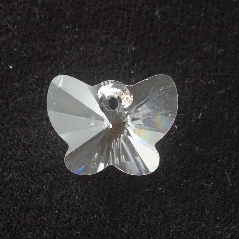 Přívěsek motýl Swarovski 18 mm, crystal