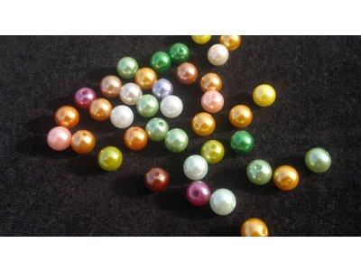 Perly voskované, plastové - MIX 10 mm plast 10 mm 2 mm