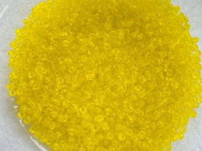 Rocailles PRECIOSA (10/0),  průhledná žlutá