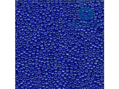 Rocailles PRECIOSA (10/0), modrá průhledná s listrem