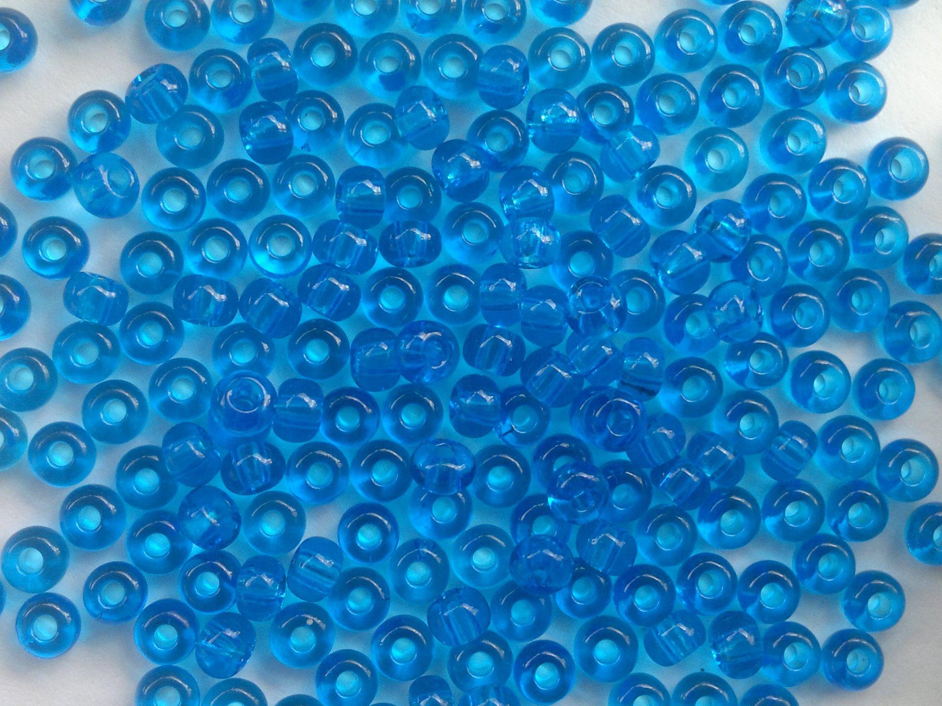 Rocailles PRECIOSA (7/0), modrá průhledná