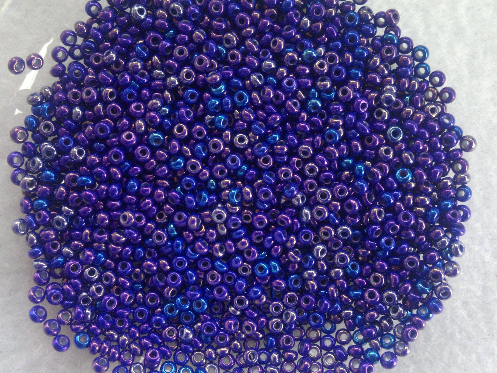 Rocailles PRECIOSA (9/0), fialovo modré AB