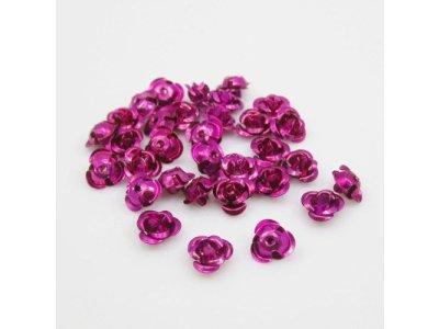 Hliníková růžička 6x4,5 mm, růžovofialová