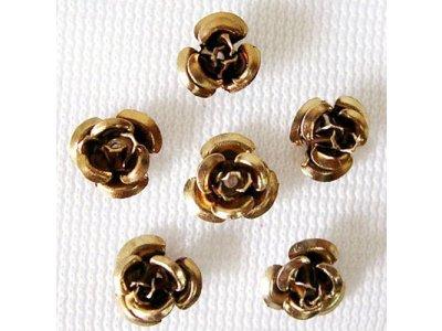 Hliníková růžička 6x4,5 mm, hnědá