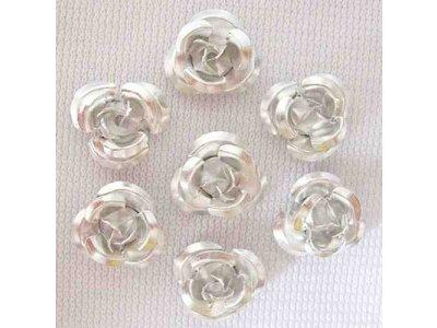 Hliníková růžička 15x9 mm, stříbrná
