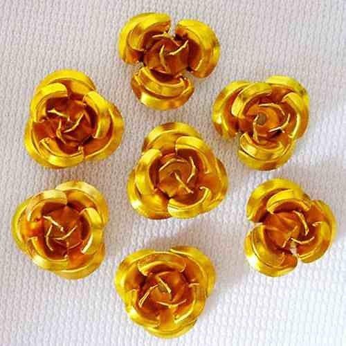 Hliníková růžička 15x9 mm, zlatá