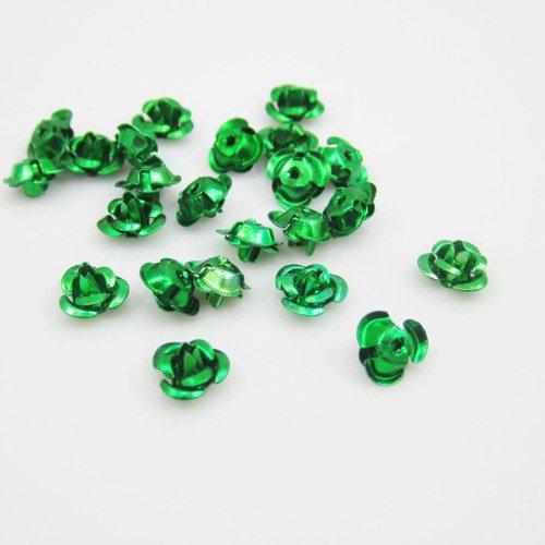 Hliníková růžička 12x7 mm, zelená