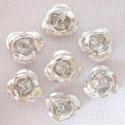 Hliníková růžička 17x9 mm, stříbrná
