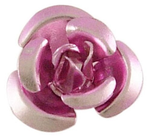Hliníková růžička 12x7 mm, růžová