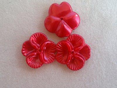 Akrylová kytka, pr. 27 mm, červený vosk