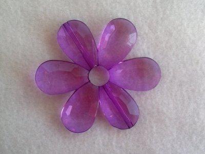 Akrylová kytka, pr. 57 mm, fialová