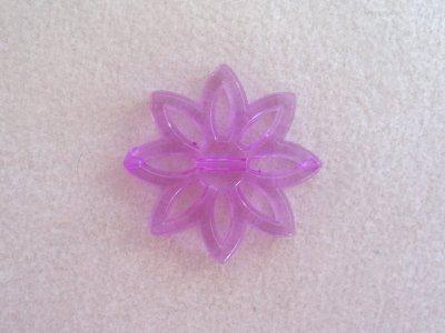 Plastová kytka, pr. 31 mm, fialová