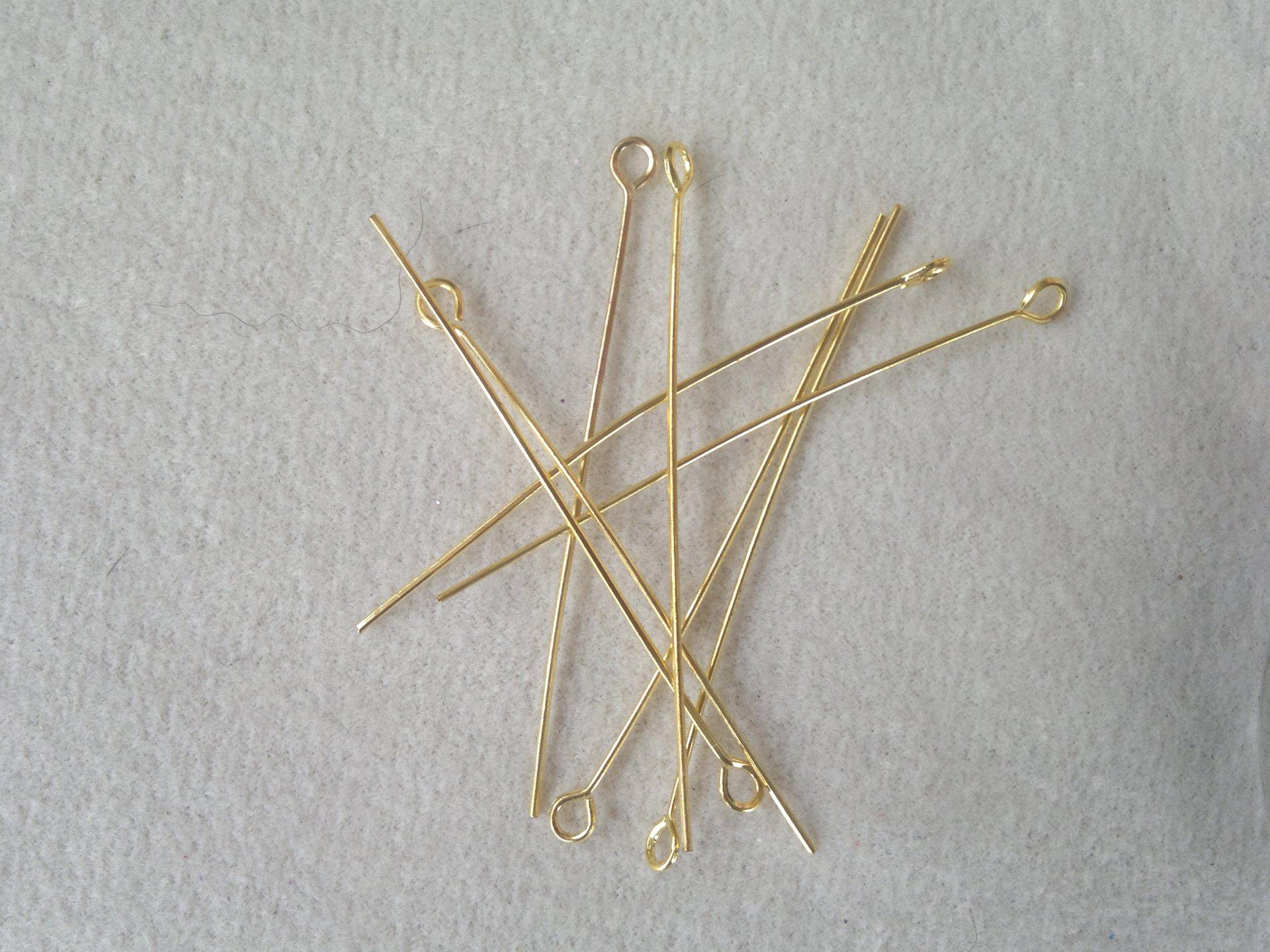 Ketlovací jehly 5 cm, zlaté